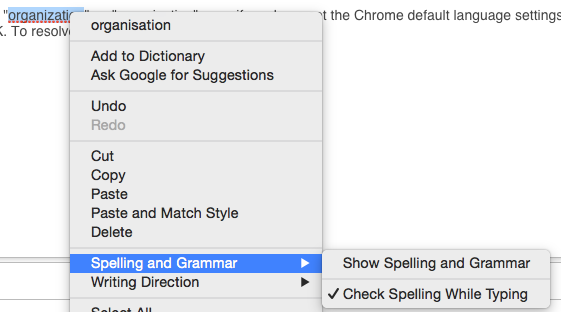 Select Spelling and Grammar