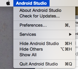 Updating Android Studio on Mac OS X