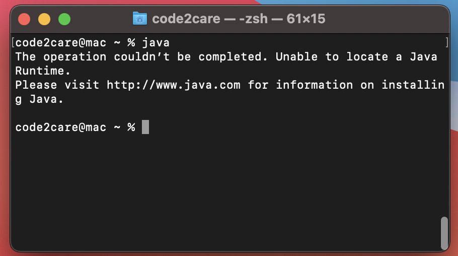 Unable to locate Java Runtime macOS Error
