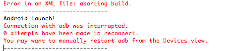 Connection with adb was interrupted error