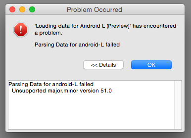 Parsing Data for android-L failed.png