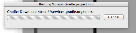 Stuck Building library Gradle Project Info