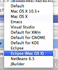 Under Keymap select Eclipse