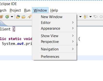 Eclipse Preferences in Windows OS