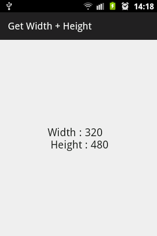 Width and Height in portrait mode