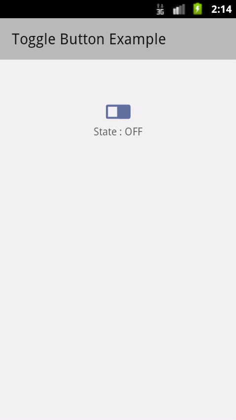 Toggle Button OFF State