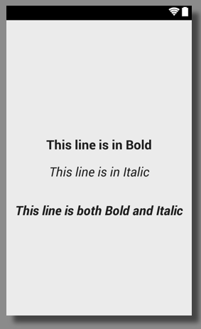 Android TextView Bold and Italic