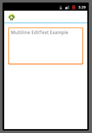 EditText Multiline example Android
