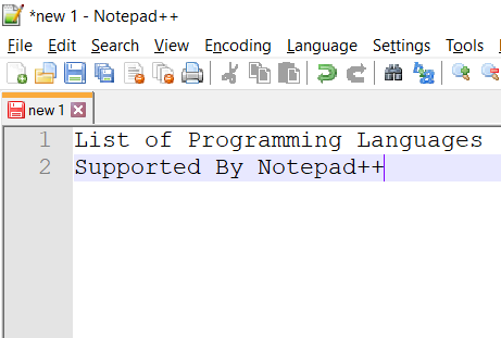 Notepad++ Programming Language Support List