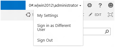Sign in as different user missing in SharePoint 2013