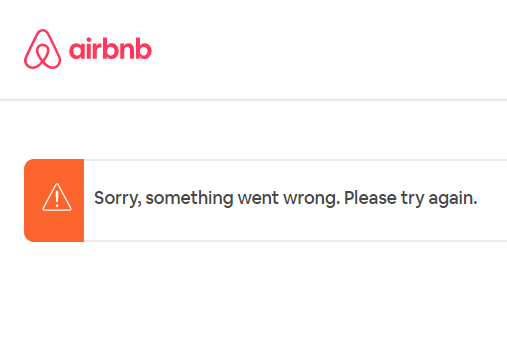 airbnb error something went wrong