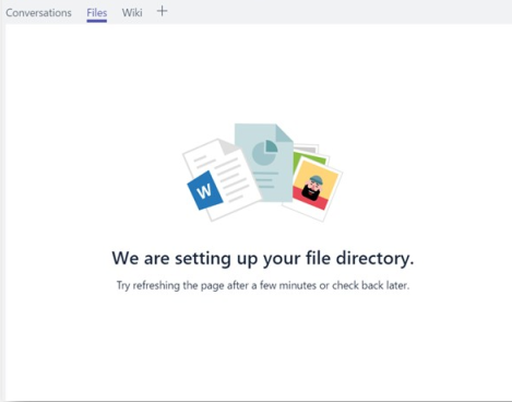 Microsoft Teams cannot access files