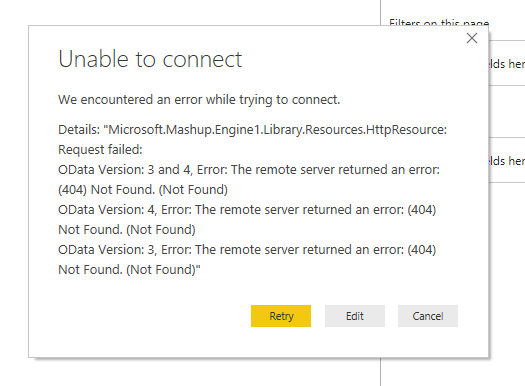 Power BI error - The remote server returned an error 404 Not Found.png