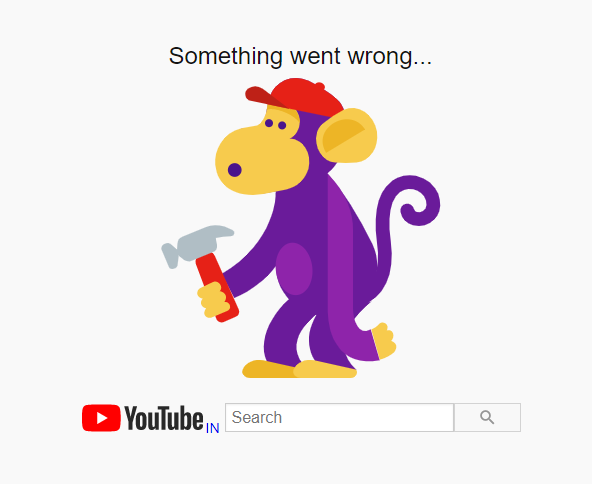 Youtube down something went wrong
