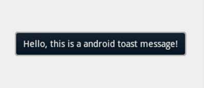 Toast Duration Android