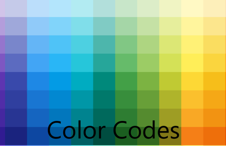 HTML HTML5 CSS CSS3 Color codes 2020.png