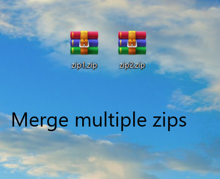 Merge Multiple Zips without unzipping