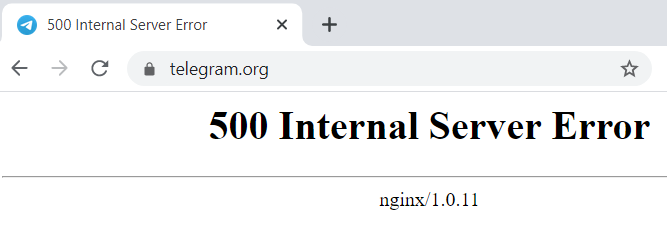 Telegram 500 internal server error