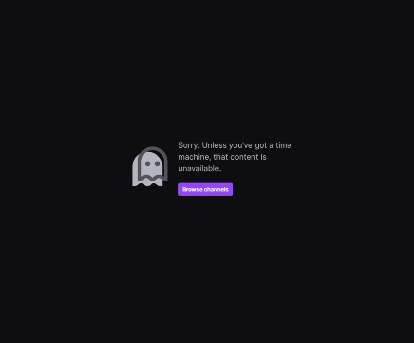 Twitch sorry content unavailable