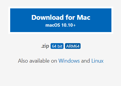 VS Code download for Mac