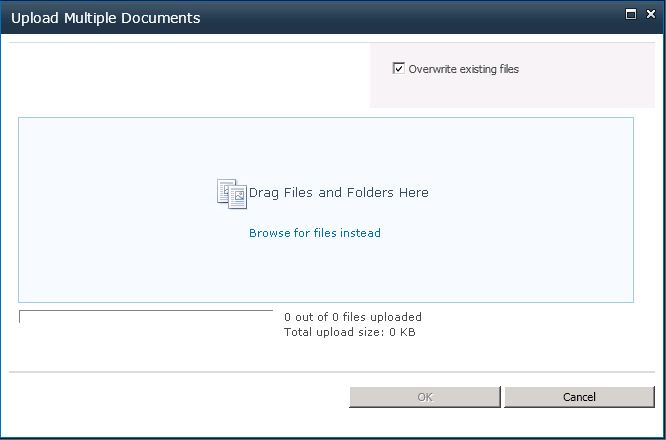 Sharepoint 2013 document library drag drop